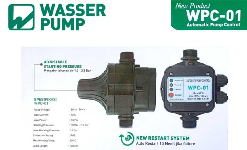Dealer Pemanas Air Depok Automatic Pressure Control Wasser Wpc 01 Solusi Pompa Pendorong Berisik