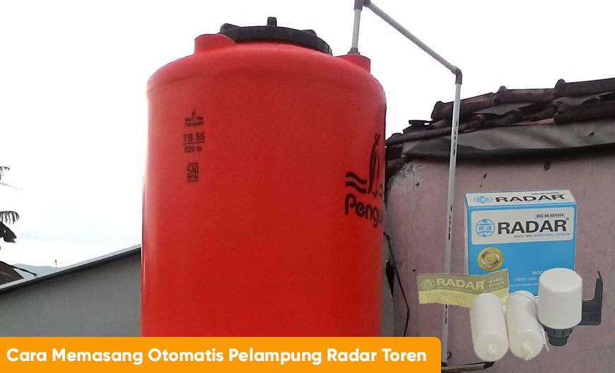 cara memasang otomatis pelampung radar